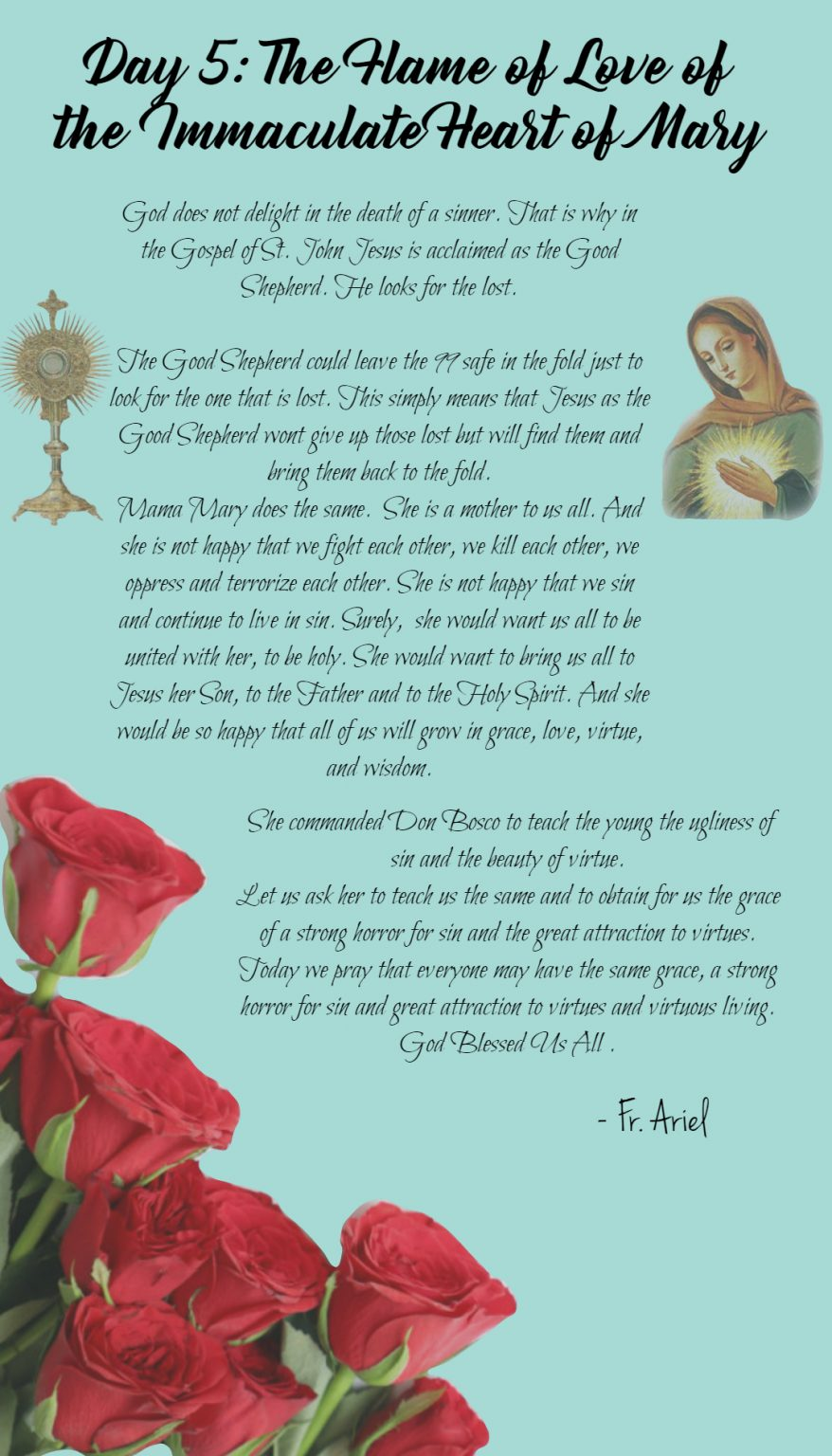 Fifth day of Novena