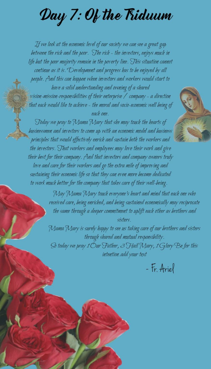 Seventh day of Novena