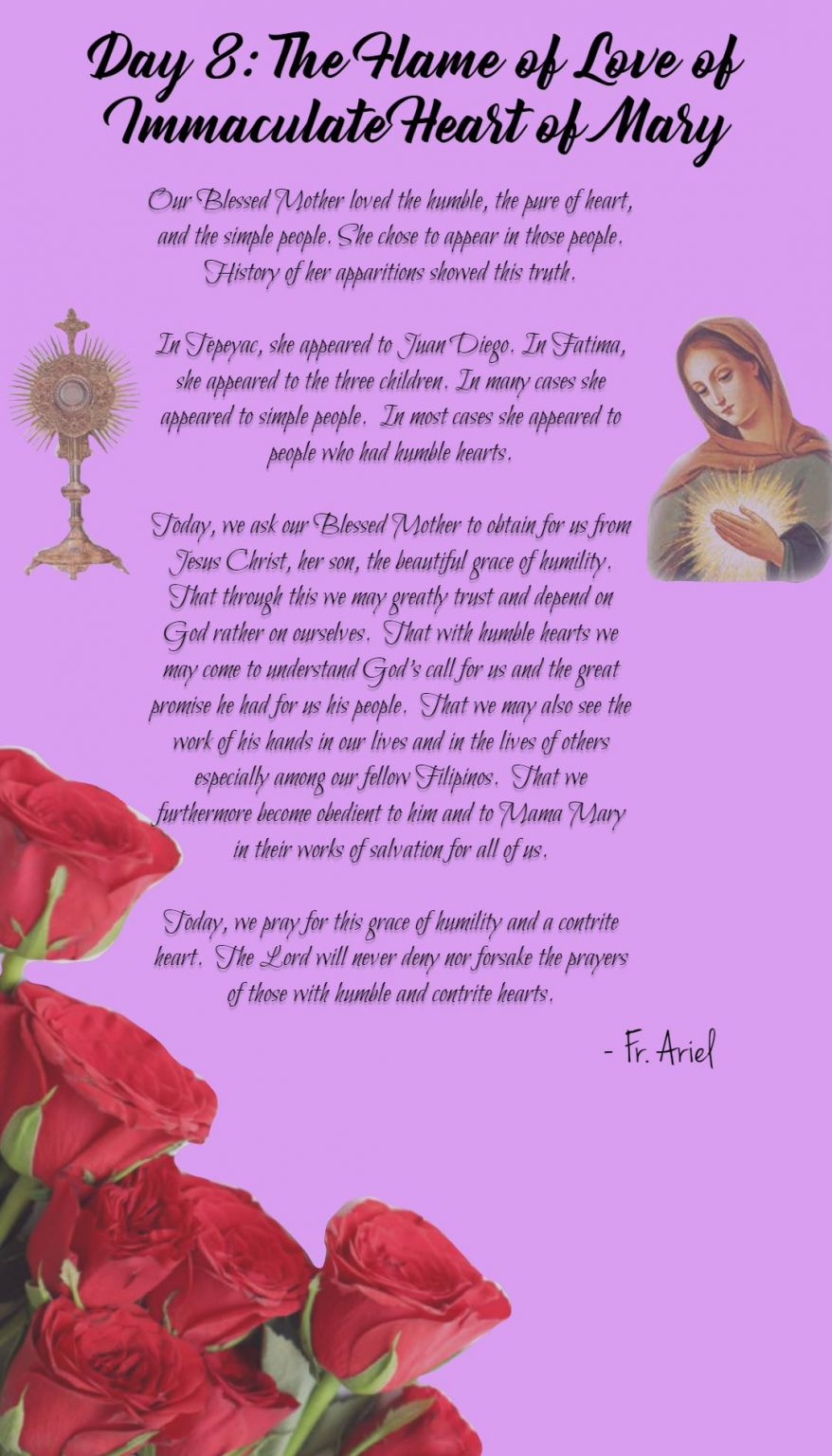 Eighth day of Novena